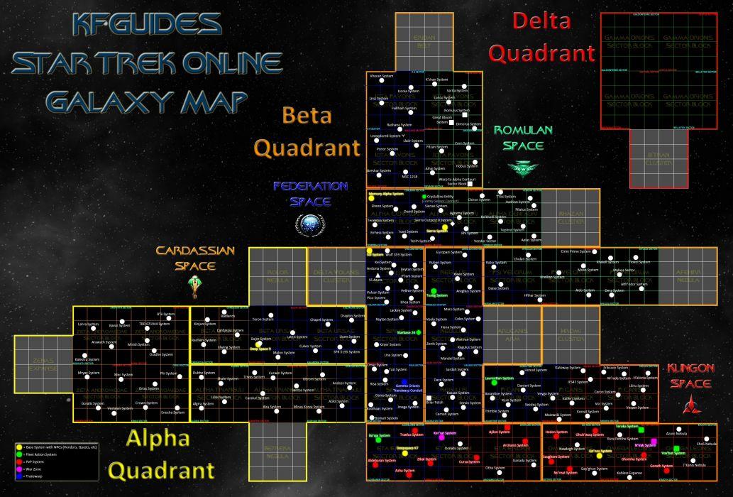 Star Trek Online Game Sci Fi Futuristic Map Poster Wallpaper