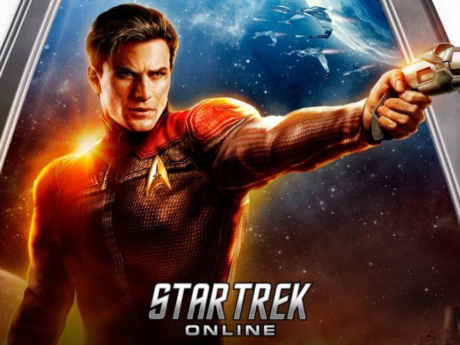 STAR TREK ONLINE game sci-fi futuristic poster wallpaper