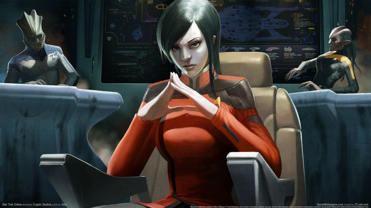 STAR TREK ONLINE game sci-fi futuristic alien wallpaper