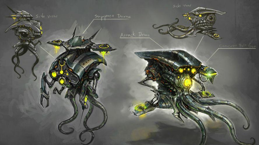 STAR TREK ONLINE game sci-fi futuristic mecha robot wallpaper