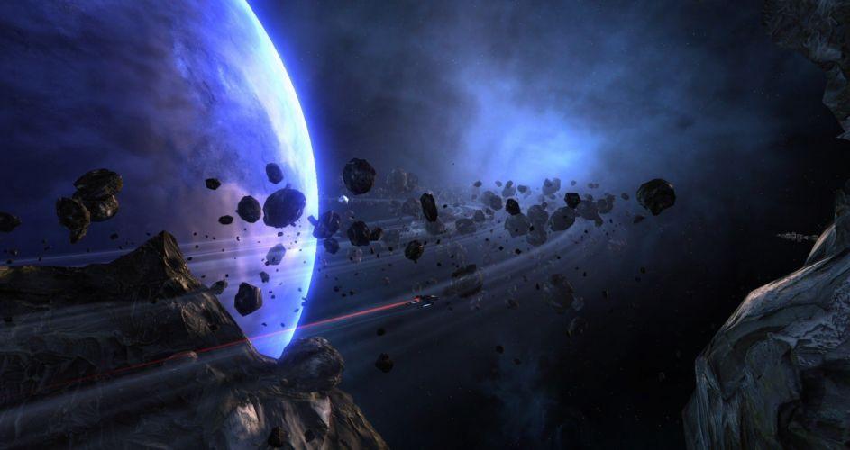 STAR TREK ONLINE game sci-fi futuristic spaceship planet space wallpaper