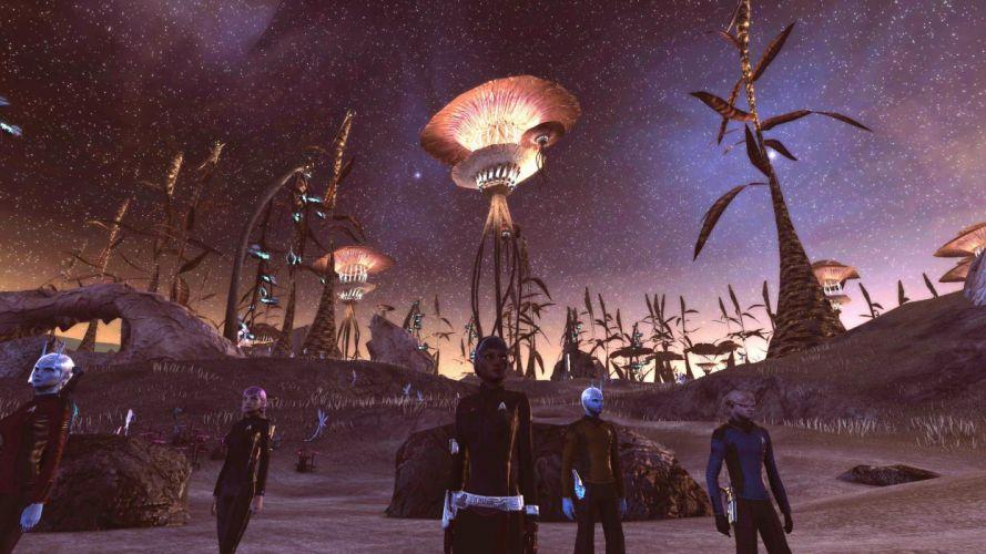 STAR TREK ONLINE game sci-fi futuristic wallpaper
