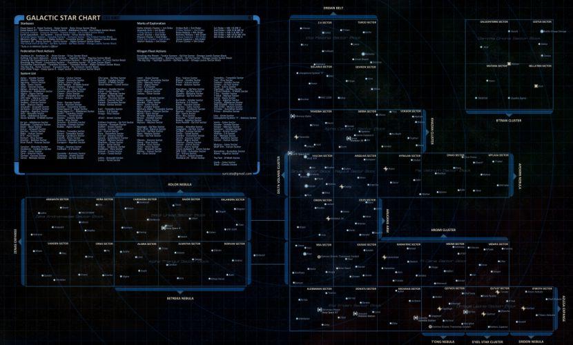 STAR TREK ONLINE game sci-fi futuristic poster map wallpaper
