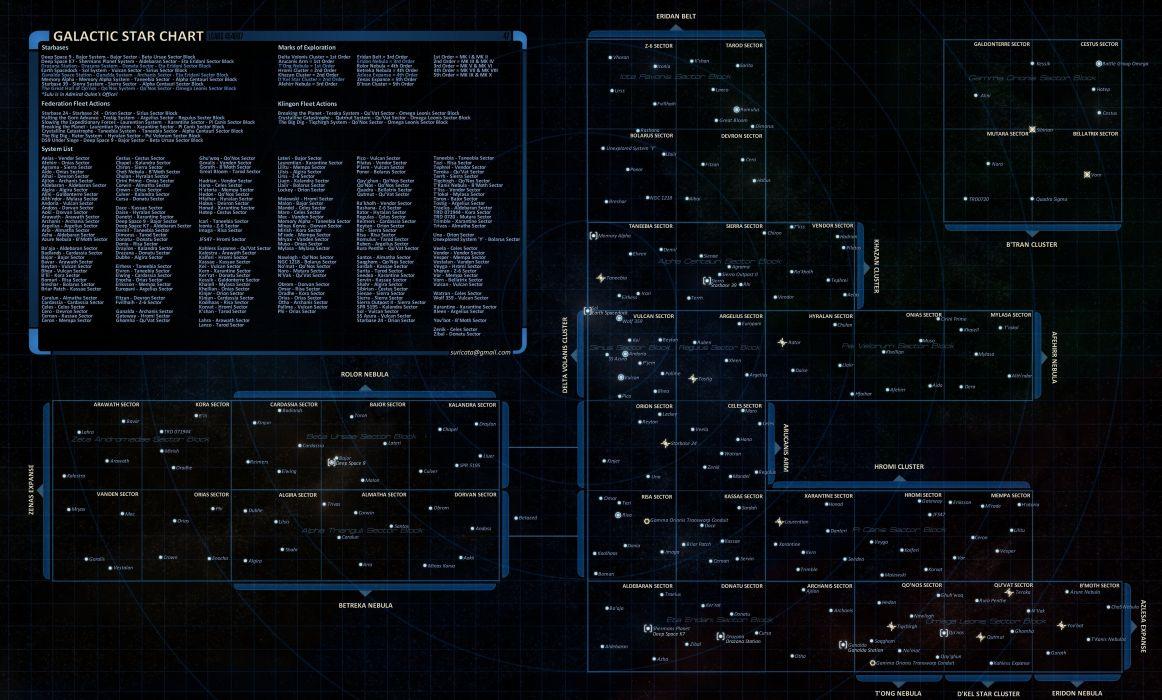 Star Trek Online Game Sci Fi Futuristic Poster Map Wallpaper