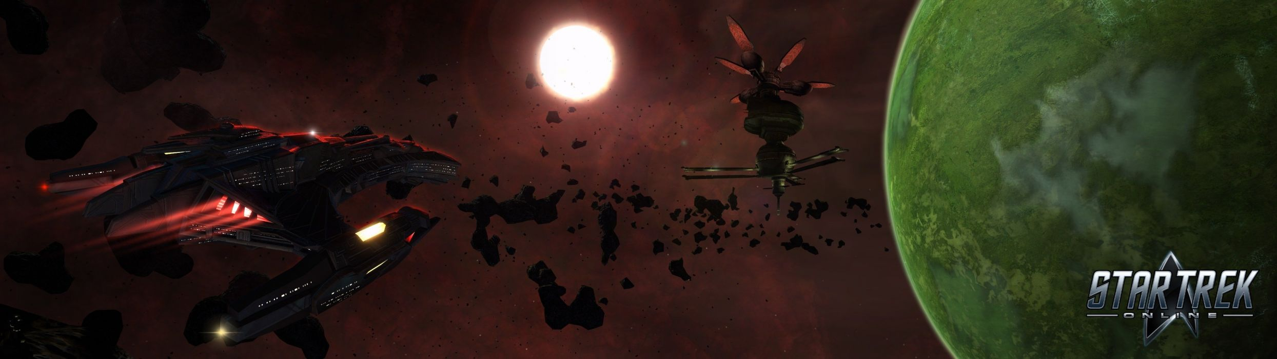STAR TREK ONLINE game sci-fi futuristic spaceship poster planet wallpaper