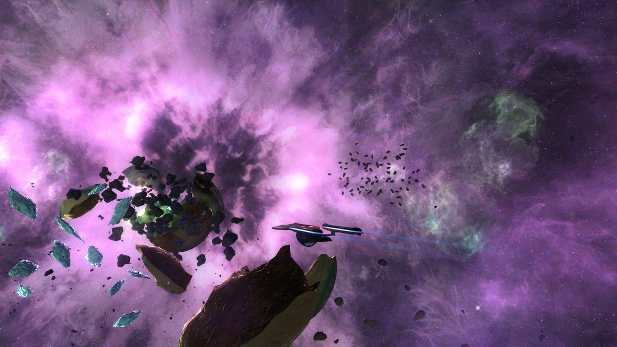 STAR TREK ONLINE game sci-fi futuristic spaceship poster wallpaper