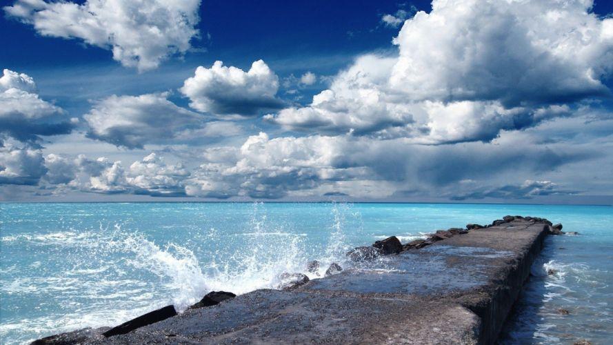 skies sea wallpaper