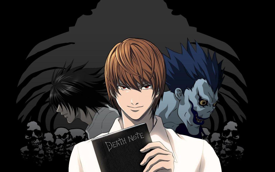 Death Note Ryuk Yagami Light L Lawliet wallpaper