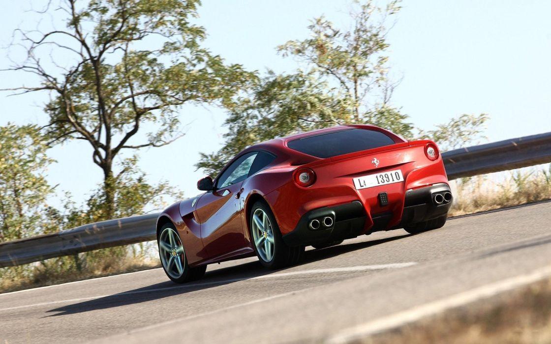 cars Ferrari roads red cars sports cars Ferrari F12 Berlinetta wallpaper