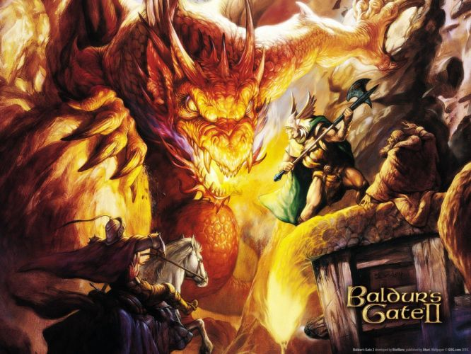 dragons Baldurs Gate wallpaper