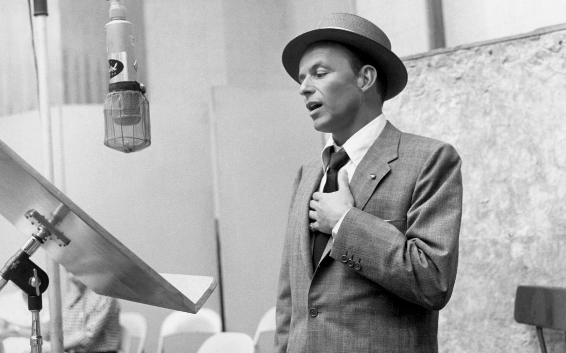 black and white Frank Sinatra singers wallpaper