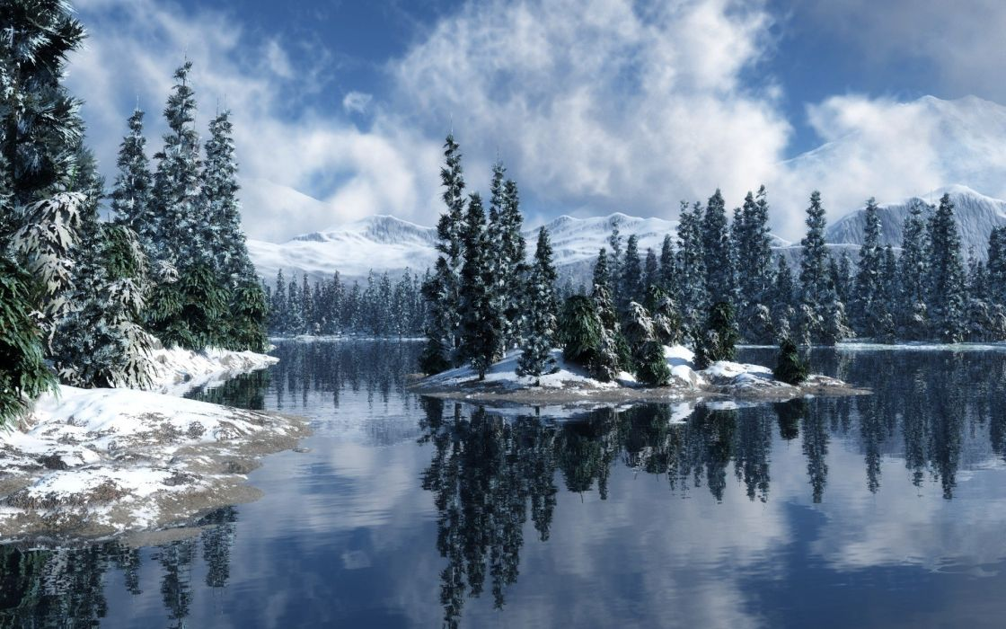 winter lakes TV shows wallpaper