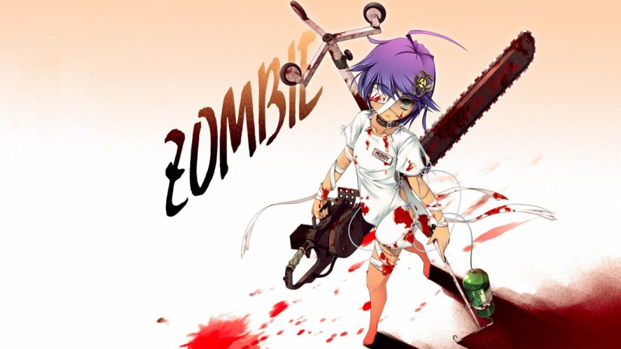 chainsaw Night of the Living Dead anime original characters wallpaper