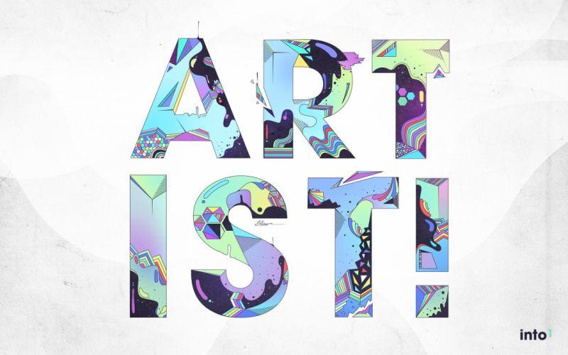 typography artist white background wallpaper
