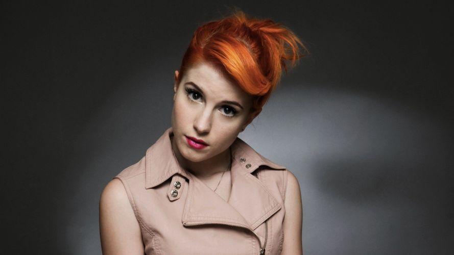 Hayley Williams Paramore women redheads long hair makeup wallpaper
