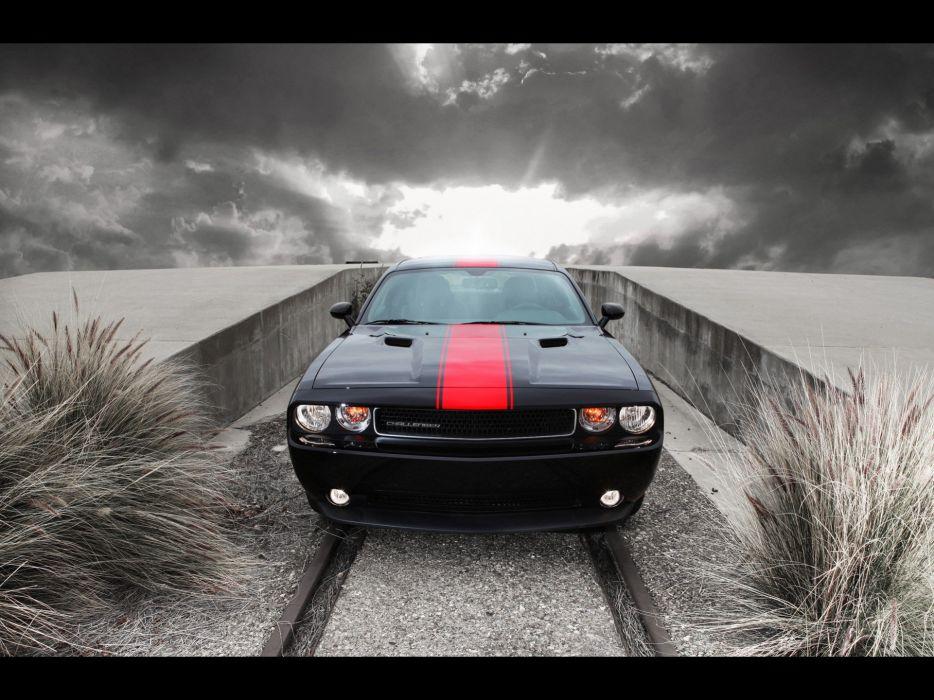 cars front Dodge Challenger wallpaper