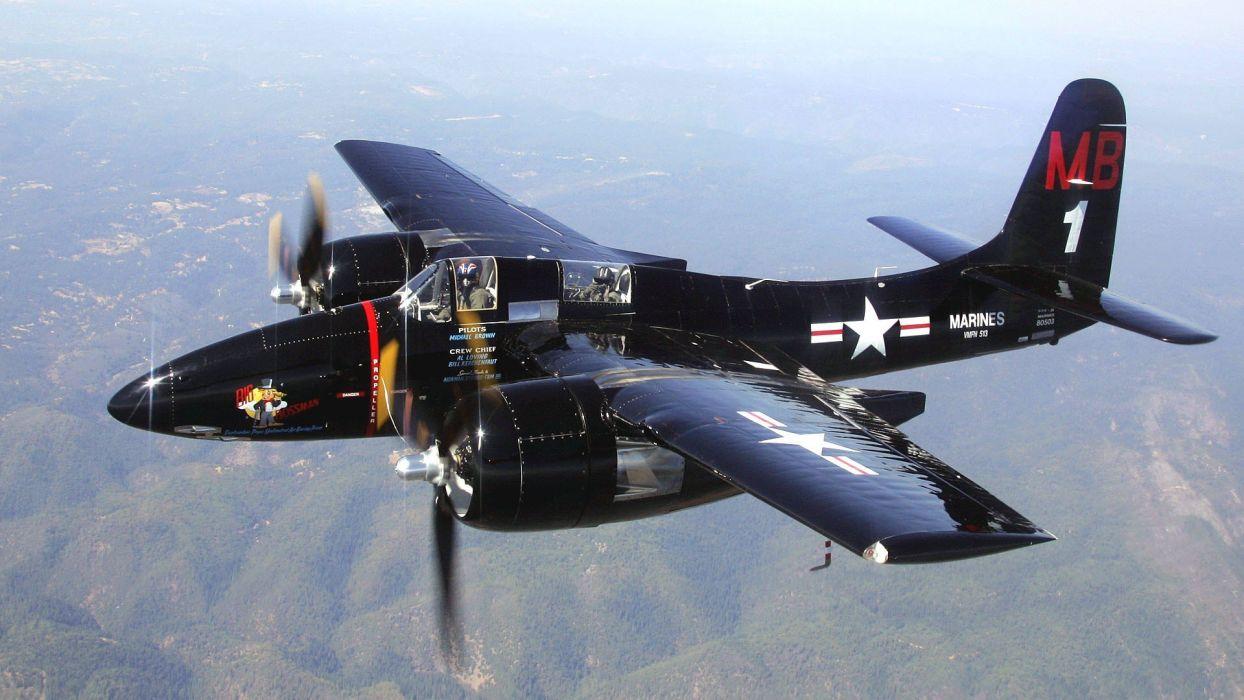 aircraft military World War II Warbird fighters Tigercat wallpaper