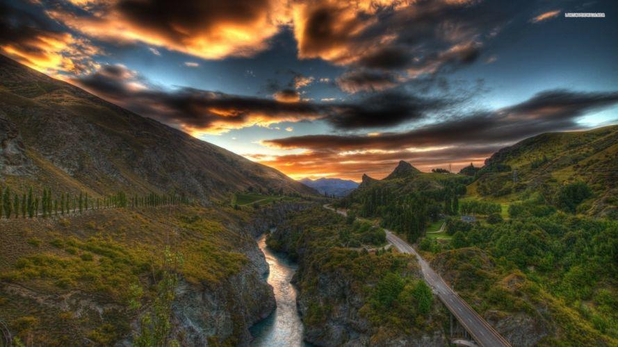 clouds landscapes valleys wallpaper