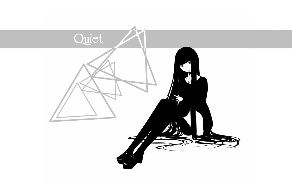 text skirts long hair shoes jackets thigh highs grayscale sitting simple background anime girls white background original characters fingers on lips haru@ wallpaper