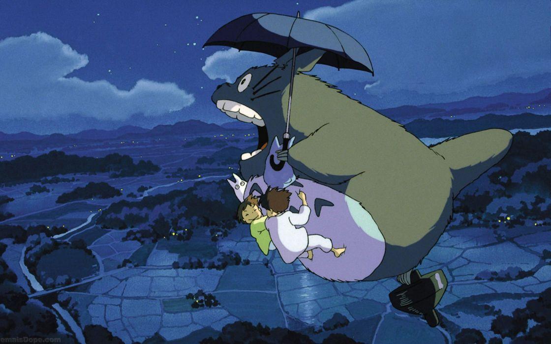 Hayao Miyazaki Totoro My Neighbour Totoro artwork Studio Ghibli anime wallpaper
