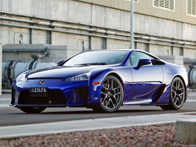 blue cars Lexus LFA wallpaper