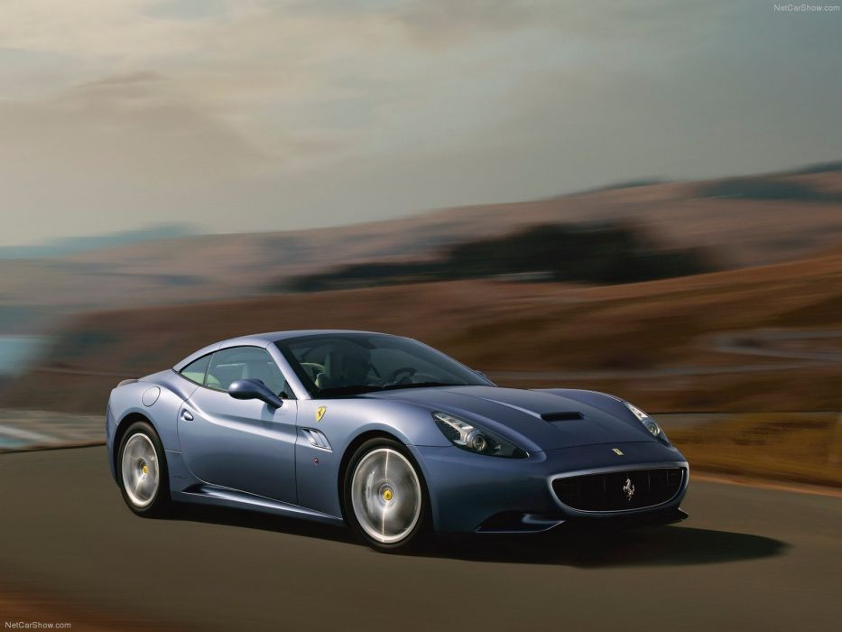 cars roads Ferrari California blue cars wallpaper