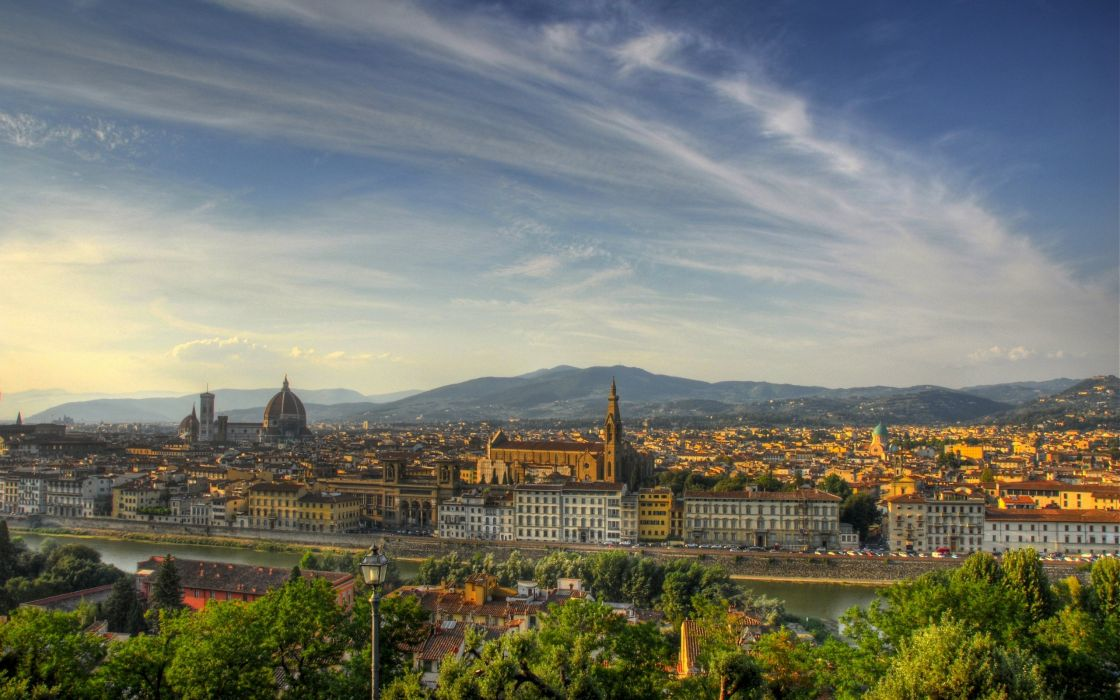 cityscapes Italy Florence Firenze Tuscany wallpaper