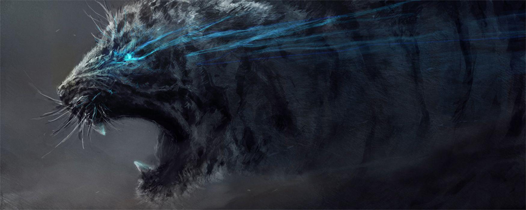 tigers artwork wallpaper