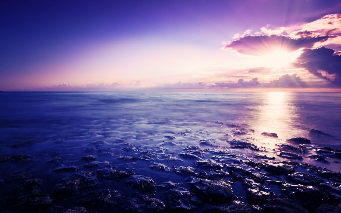 sunset ocean clouds landscapes waterscapes photo filters wallpaper