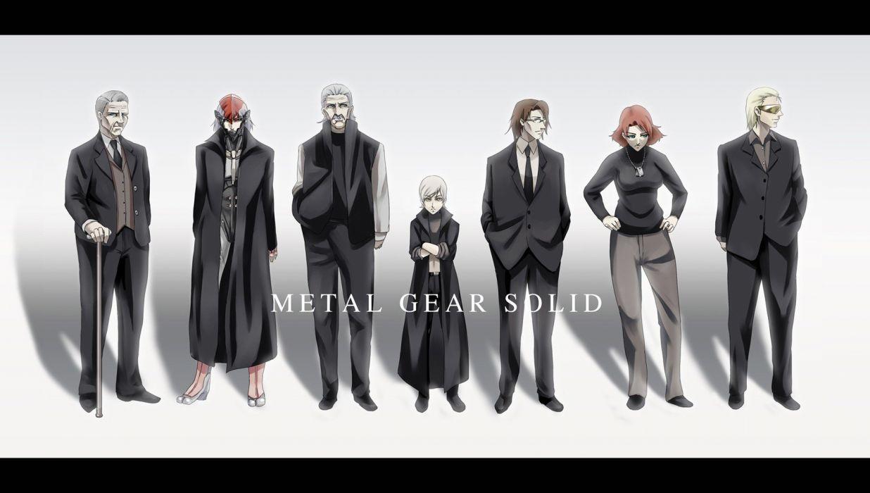 Metal Gear Solid Raiden meryl silverburgh Otacon Sunny Emmerich Roy Campbell wallpaper