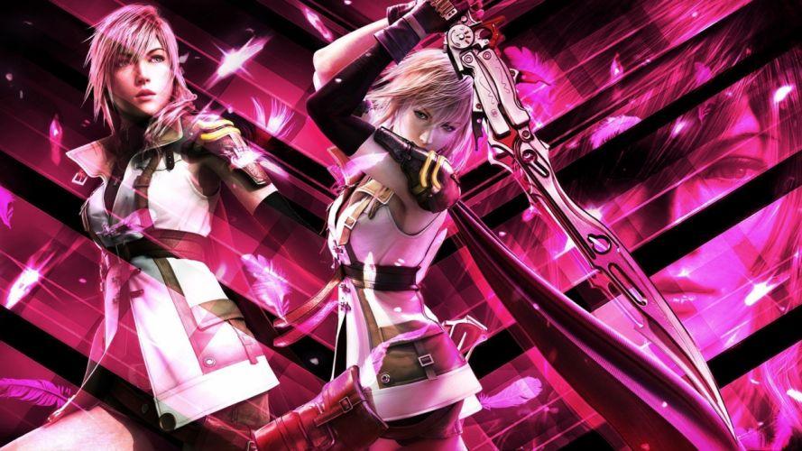 video games weapons Final Fantasy XIII Claire Farron swords wallpaper