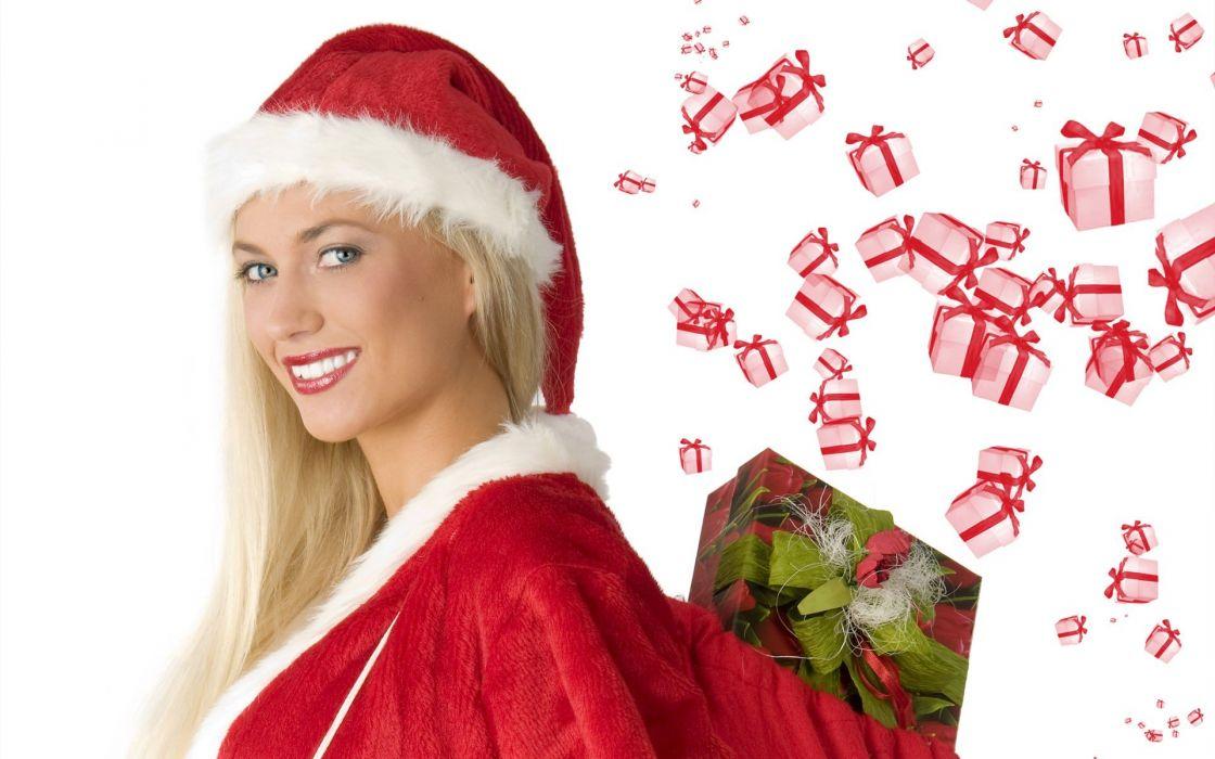 Christmas Santa outfit wallpaper