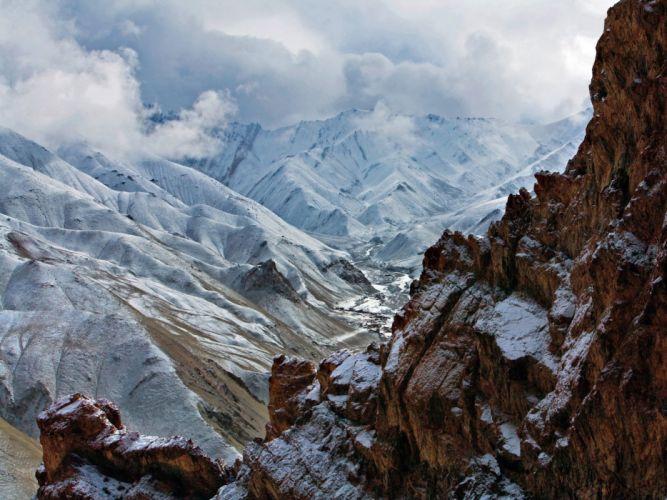 mountains snow wallpaper