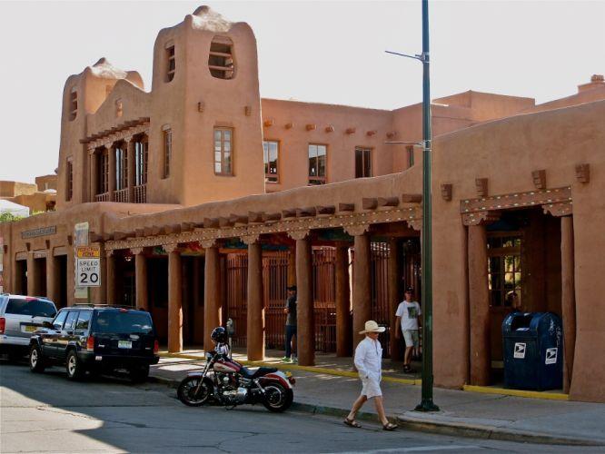 New Mexico plaza Santa Fe wallpaper