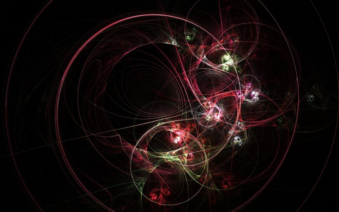 abstract red fractals wallpaper