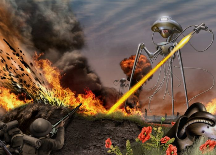 WAR OF THE WORLDS adventure thriller sci-fi wallpaper