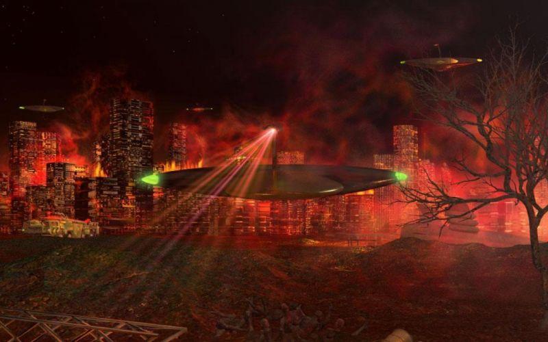 WAR OF THE WORLDS adventure thriller sci-fi spaceship wallpaper
