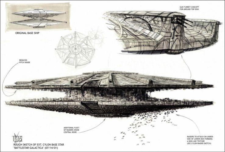BATTLESTAR GALACTICA action adventure drama sci-fi spaceship poster wallpaper