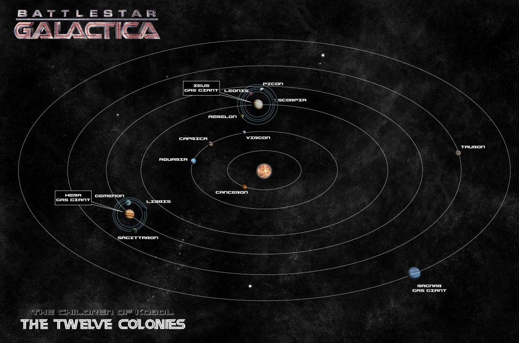 BATTLESTAR GALACTICA action adventure drama sci-fi map poster wallpaper