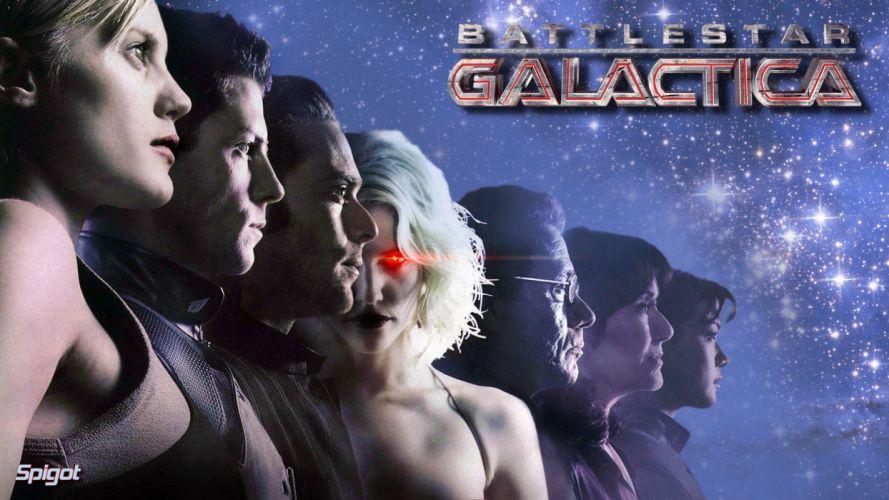 BATTLESTAR GALACTICA action adventure drama sci-fi poster wallpaper