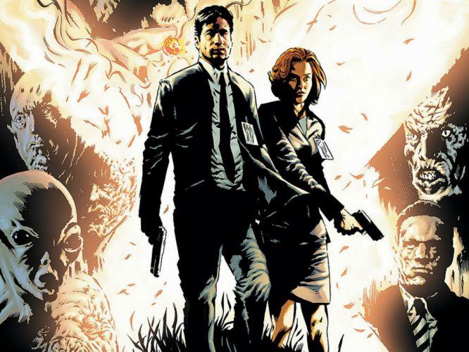 THE X-FILES sci-fi mystery drama television files series poster weapon gun alien wallpaper