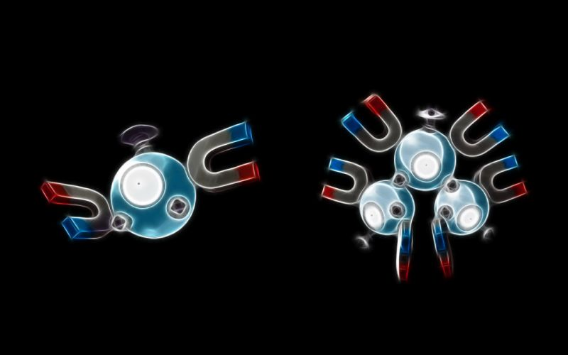 Pokemon simple background black background Magnemite wallpaper