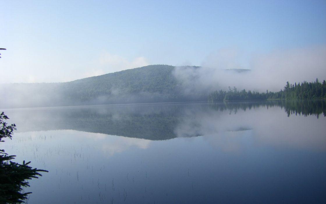 landscapes nature fog wallpaper