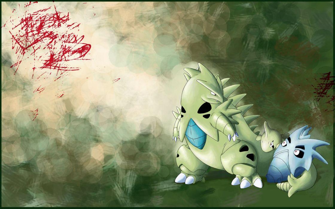 green Pokemon Tyranitar larvitar Pineco wallpaper