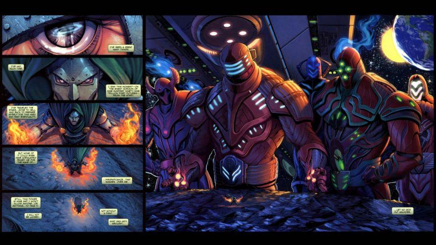 outer space comics Moon Marvel Comics Dr_ Doom Celestials wallpaper