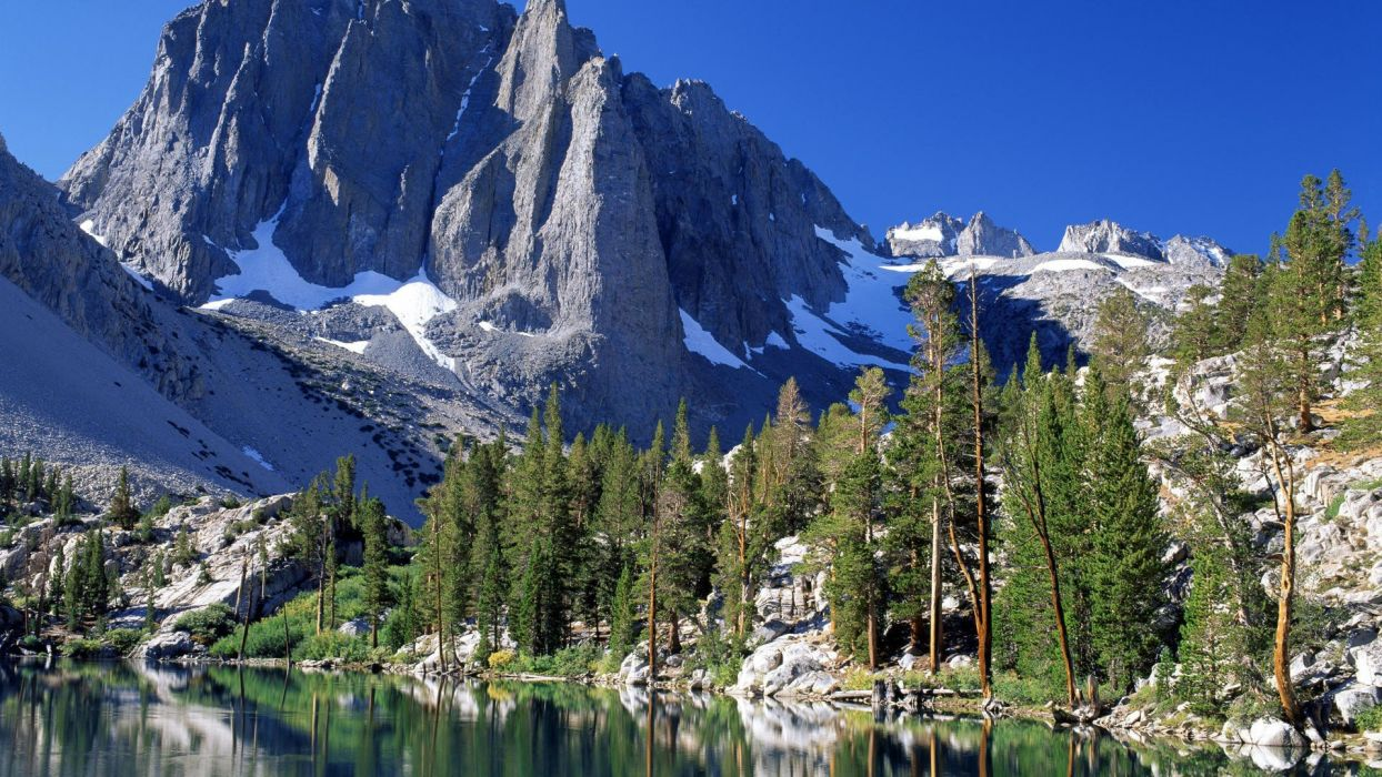 California Nevada range lakes Sierra wallpaper