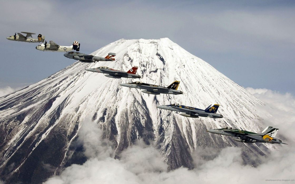 aircraft war US Navy FA-18 Hornet A-6 Intruder E-2C Hawkeye C-2 Greyhound wallpaper