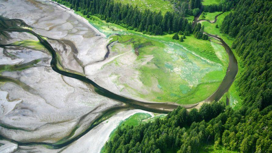 Alaska aerial wallpaper