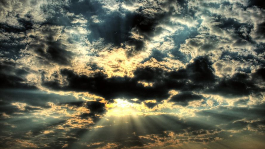 clouds Sun skyscapes wallpaper