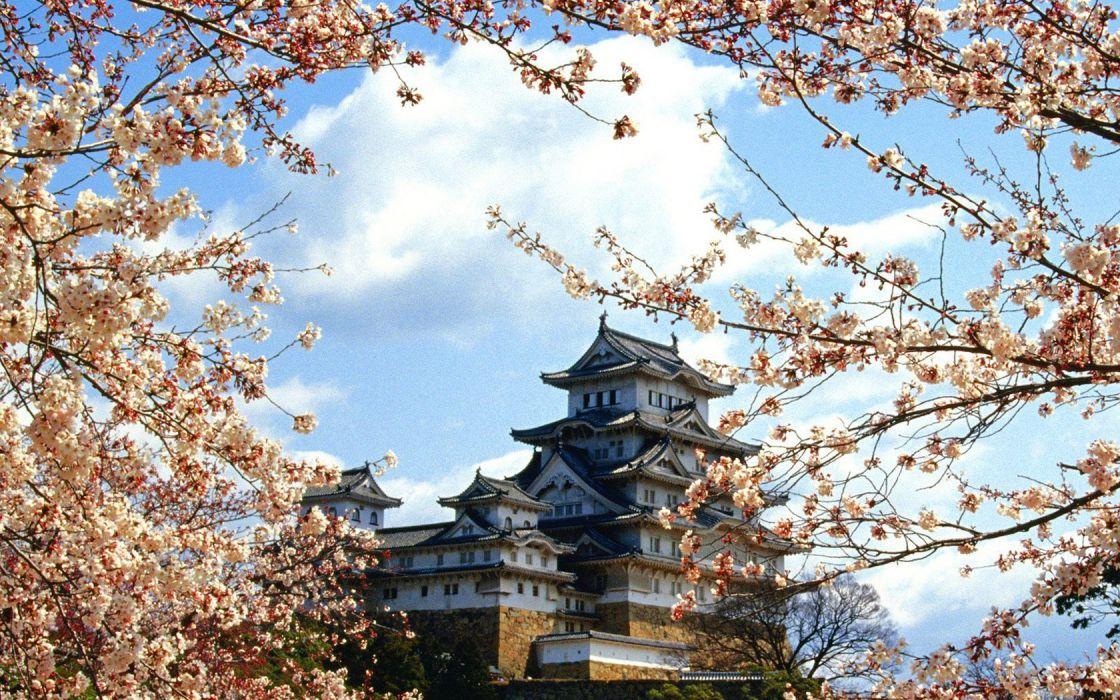 castles Japanese wallpaper